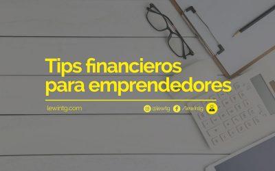 Tips financieros para emprendedores